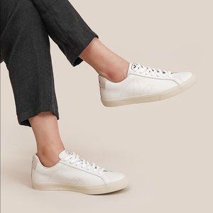Veja Esplar Low White Leather Sneakers